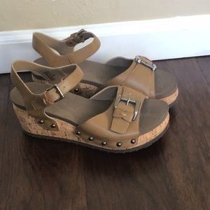 NWOT Corkey's Wedge Sandals